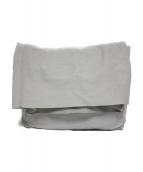 TAKAHIROMIYASHITA TheSoloIst.(タカヒロミヤシタザソロイスト)の古着「ディアスキンクラッチバッグ バッグ」|ホワイト