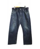 VISVIM(ビズビム)の古着「FLUXUS DENIM デニムパンツ」|ブルー