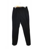 JOHN LAWRENCE SULLIVAN(ジョンローレンスサリバン)の古着「2タックワイドテーパードパンツ パンツ」|ブラック