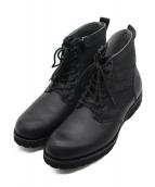 AVIREX(アヴィレックス)の古着「VANGUARDミリタリーブーツ ブーツ」 ブラック