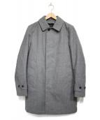 TOMORROW LAND(トゥモローランド)の古着「ダウンライナー付ステンカラーコート  コート」|グレー