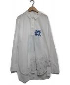KUON(クオン)の古着「ロングシャツ トップス」|ホワイト