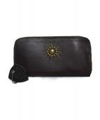 HTC(エイチティーシー)の古着「ラウンドファスナー財布 財布」|ブラウン