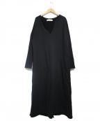 R JUBILEE(アール ジュビリー)の古着「ネップ加工スウェットドレス」 ブラック