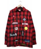 STUDIO SEVEN(スタジオ セブン)の古着「DOUBLE SHIRT シャツ」|レッド