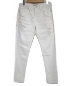 JIMMY TAVERNITI(ジミータヴァニティ)の古着「ダメージデニムパンツ パンツ」|ホワイト