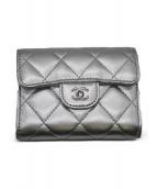 CHANEL(シャネル)の古着「2つ折り財布 財布」|シルバー
