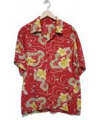 SUN SURF(サンサーフ)の古着「アロハシャツ シャツ」 レッド