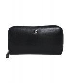CHANEL(シャネル)の古着「ココボタンラウンドファスナーウォレット 財布」|ブラック