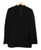 ANN DEMEULEMEESTER(アンドゥムルメステール)の古着「ノッチド1ボタンテーラードジャケット ジャケット」 ブラック