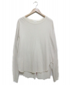 6(ROKU) BEAUTY&YOUTH(ロク)の古着「BACK STITCH PULLOVER カットソー」 アイボリー