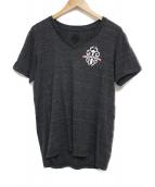 CHROME HEARTS(クロムハーツ)の古着「VネックTシャツ カットソー」|グレー