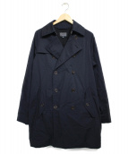 BLUE WORK(ブルーワーク)の古着「トレンチコート コート」|ネイビー
