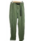 GRAMICCI(グラミチ)の古着「リネンクライミングパンツ」|グリーン