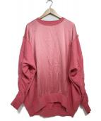 DIESEL(ディーゼル)の古着「シルク切替ビッグスウェット」 ピンク