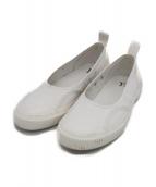 Ys(ワイズ)の古着「スリッポン スニーカー」|ホワイト