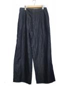 HUMAN WOMAN(ヒューマンウーマン)の古着「ワイドパンツ」 ブルー