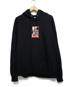 BlackEyePatch(ブラックアイパッチ)の古着「LABEL Hoodie パーカー トップス」 ブラック