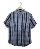 THE NORTHFACE PURPLELABEL(ザ・ノースフェイス パープルレーベル)の古着「半袖シャツ トップス」 ブルー