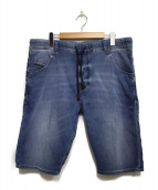 DIESEL(ディーゼル)の古着「ジョグハーフパンツ パンツ」|ブルー