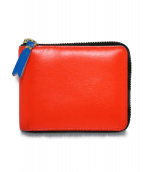 COMME des GARCONS(コムデギャルソン)の古着「SUPER FLUO ZIP AROUND SW 財布」 マルチカラー