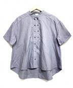 bulle de savon(ビュル デ サボン)の古着「オックスコック半袖ブラウス」|グレー