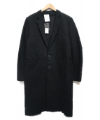 ANN DEMEULEMEESTER(アン・ドゥムルメステール)の古着「チェスターコート」|ブラック