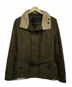 MACKINTOSH(マッキントッシュ)の古着「ボアカラーハーフコート コート」|オリーブ