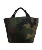 Herve Chapelier(エルベシャプリエ)の古着「ハンドバッグ バッグ」|グリーン