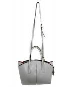 GIANNI CHIARINI(ジャンニ・キャリーニ)の古着「2WAYショルダーバッグ バッグ」|ホワイト