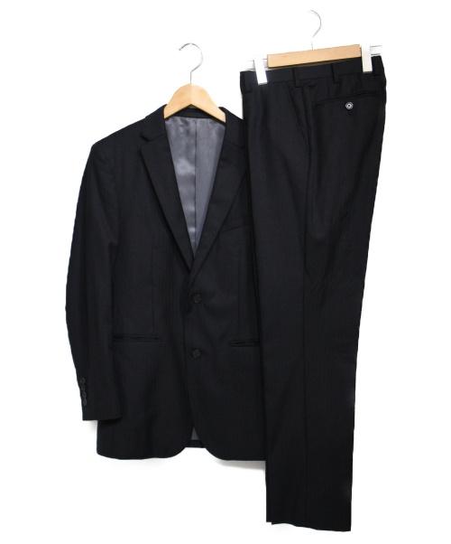 BLACK LABEL CRESTBRIDGE(ブラックレーベルクレストブリッジ)BLACK LABEL CRESTBRIDGE (ブラックレーベル・クレストブリッジ) 3ピーススーツ  スーツ ブラック サイズ:36の古着・服飾アイテム