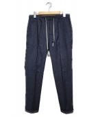 ENTRE AMIS(アントレアミ)の古着「1プリーツイージーパンツ パンツ」|インディゴ