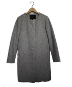 Jewel Changes(ジュエルチェンジズ)の古着「ノーカラーコート  コート」|グレー