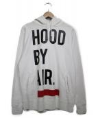 Hood By Air(フードバイエアー)の古着「プルオーバーパーカー」 ホワイト