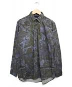 THE NORTH FACE PURPLE LABEL(ザノースフェイス パープルレーベル)の古着「Tree Camo Print B.D Shirt」 グレー
