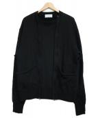 Hombre Nino(オンブレ・ニーニョ)の古着「ZIP CREW NECK スウェット」|ブラック