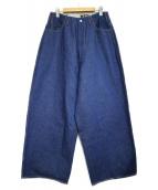 WESTOVERALLS(ウエストオーバーオールズ)の古着「ONE WASHワイドデニムパンツ パンツ」|インディゴ