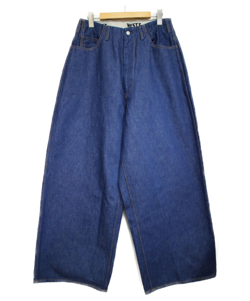 WESTOVERALLS(ウエストオーバーオールズ)WESTOVERALLS (ウエストオーバーオールズ) ONE WASHワイドデニムパンツ パンツ インディゴ サイズ:Sタイプの古着・服飾アイテム