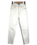 SERGE de bleu(サージ)の古着「ハイウエストスリム リミットブリーチ」|ホワイト