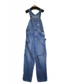 Hysteric Glamour(ヒステリックグラマー)の古着「USED加工オーバーオール」|ブルー