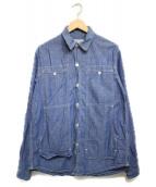 SASSAFRAS(ササフラス)の古着「デニムシャツ シャツ」|ブルー
