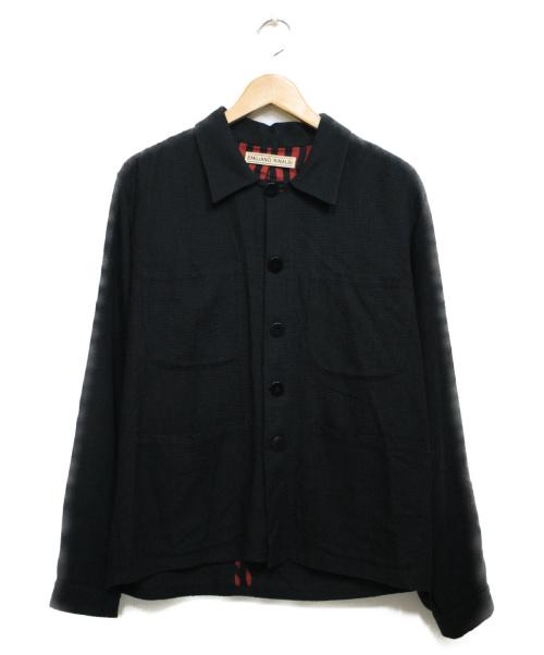 EMiLiANO RiNALDi(エミリアーノ・リナルディ)EMiLiANO RiNALDi (エミリアーノリナルディ) カバーオール ジャケット ブラック サイズ:48の古着・服飾アイテム