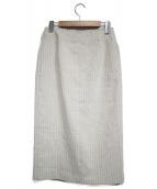Noble(ノーブル)の古着「ジップタイトスカート」|ベージュ