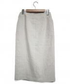 Noble()の古着「ジップタイトスカート」 ベージュ