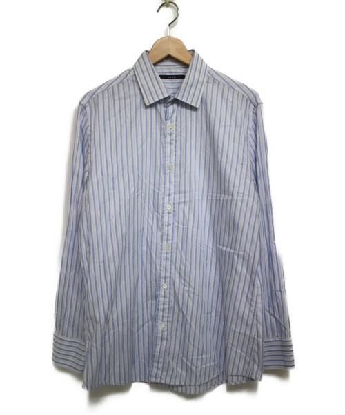 GUCCI(グッチ)GUCCI (グッチ) ストライプシャツ シャツ ブルー サイズ:42の古着・服飾アイテム