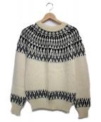 GUERNSEY WOOLLENS(ガンジーウーレンズ)の古着「アイスランディック柄セーター」|アイボリー