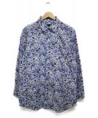 LANVIN COLLECTION(ランバンラコレクション)の古着「プリント長袖シャツ シャツ」|ブルー