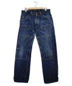 trophy clothing(トロフィークロージング)の古着「ダブルニーデニムパンツ」|ブルー