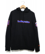 Lafayette(ラファイエット)の古着「LOGO PULLOVER SWEATSHIRT  パーカー」 ブラック