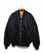 ALPHA INDUSTRIES(アルファ インダストリーズ)の古着「MA-1ジャケット」|ブラック